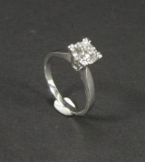 White gold ring featuring brilliant-cut diamond approx. 1.20 ct.