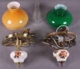 To petroleums loftlamper med el-montering. (2)
