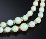 Double strand opal necklace, second-half of 20th century