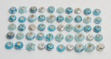 Charlotte Borgen - 50 charms / beads - turkis (50)