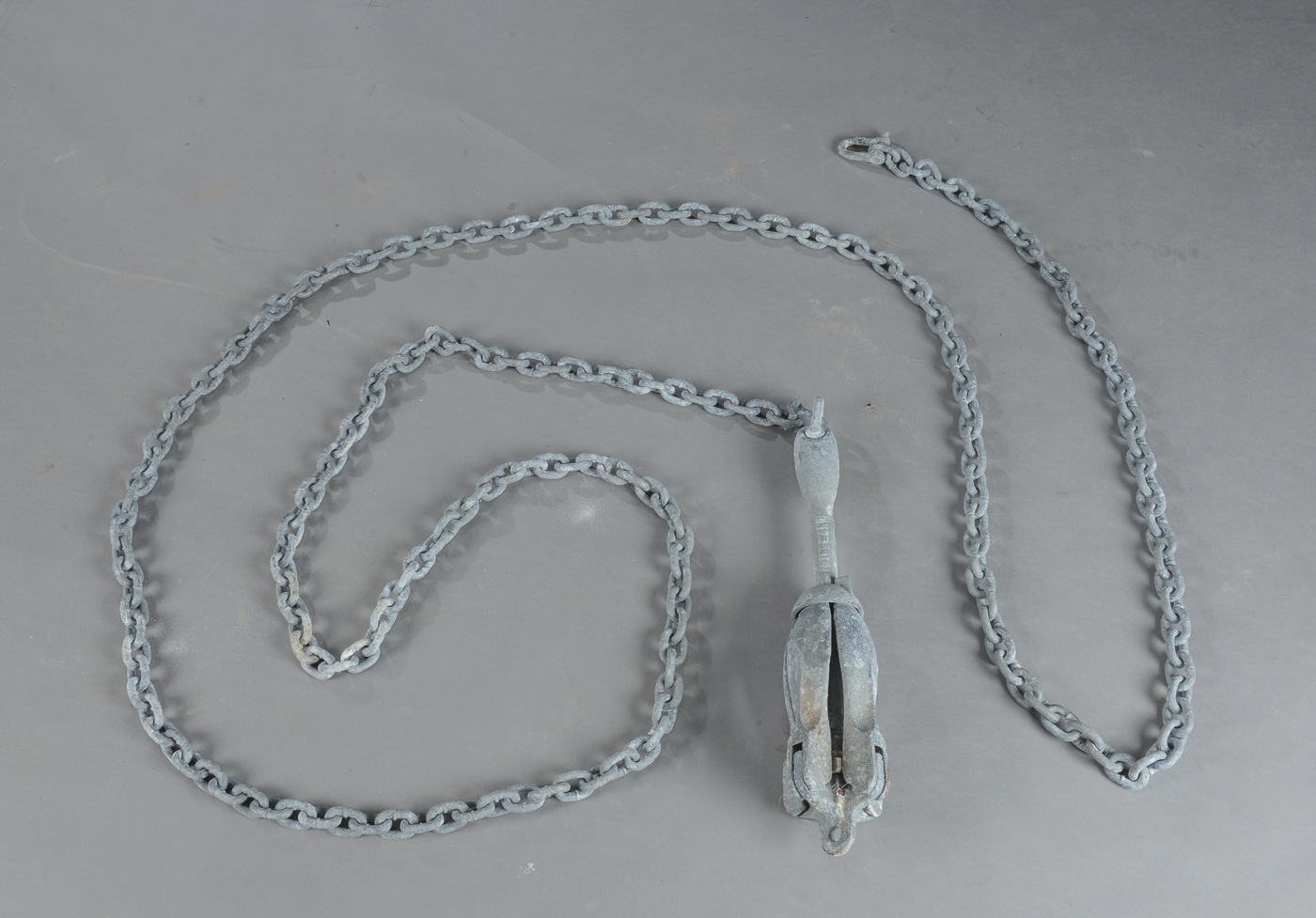 Stenanker 4 kg galvaniseret, med 5 mtr galvaniseret kæde - Stenanker 4 kg galvaniseret, med 5 mtr galvaniseret kæde