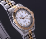 Tudor 'Lady-Sub'. Ladies watch, steel with part gold finish, white dial, c. 1992