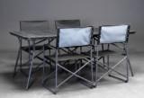 Havemøbelsæt, bord med fire stole (5)