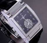de Grisogono 'Instrumento No. Uno'. Men's watch, steel with black dial and original strap and clasp