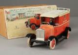Lehmann toy car, postvan, 1930s