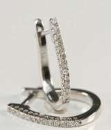 Par diamantøreringe ca. 0,26 ct.