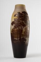 A vase, glass, workshop Gallé