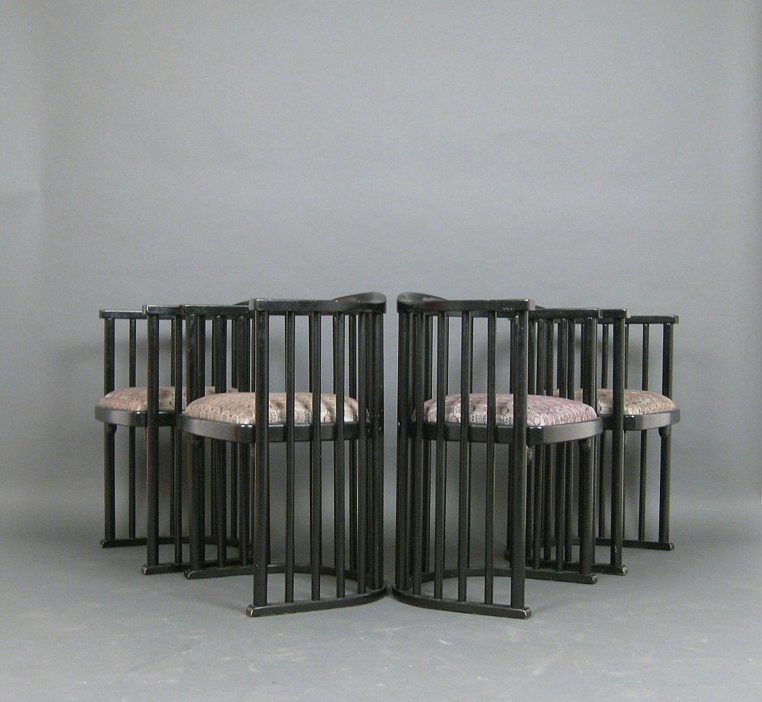 Auktionstipset - Set Fledermaus Stühle im Stile von Josef Hoffmann (4)