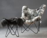 Juan Kurchan & Jorge Ferrari Hardoy, butterfly chair model Mariposa with Tricorona footstool/stool for Cuero (2)
