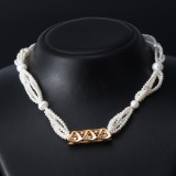 Ole Lynggaard diamond clasp, 18 kt. gold with necklace and long necklace (3)
