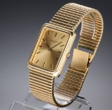 Patek Philippe. Vintage men's watch, 18 kt. gold, with champagne-coloured dial, 1970-80s