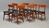 Dansk møbelproducent. Sæt på otte stole(8)