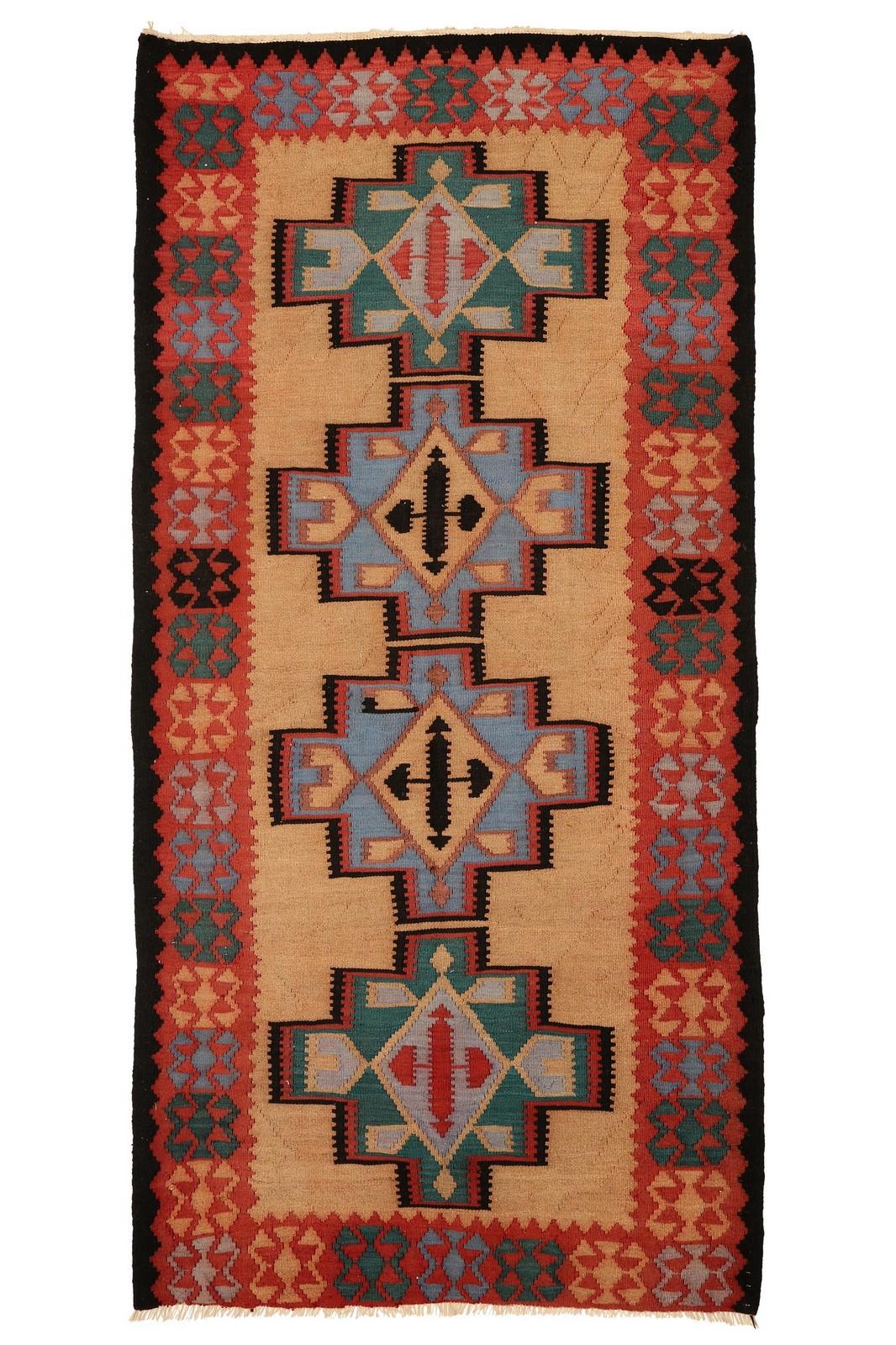 Persisk Harsin Kelim 317 x 156 cm - Persisk Harsin Kelim, uld på bomuld. 317 x 156 cm
