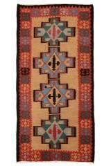 Persisk Harsin Kelim 317 x 156 cm.