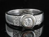 Handmade diamond ring in 18kt approx.0.42ct