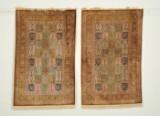 Par persiske Qum silketæpper, 150x94 cm. (2)