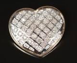 Diamant vedhæng, hjerte Ca. 0.25 ct.