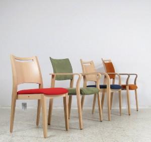 set schichtholz st hle armlehnst hle von brunner m bel 4. Black Bedroom Furniture Sets. Home Design Ideas