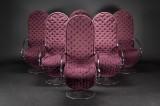 Verner Panton system 1-2-3 højrygget hvilestole (6)