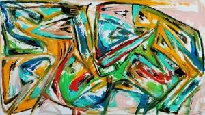 Per Eli. Komposition - Dk, Vejle, Dandyvej - Per Eli (f. 1957). Komposition, akryl på lærred, sign. Per Eli. 90 x 160 cm. Uden ramme. Læs kunstnerprofil her - Dk, Vejle, Dandyvej