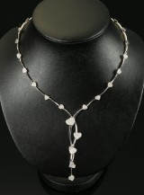 Ferret. Diamond necklace, 18 kt white gold, total approx. 2.11 ct
