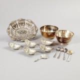 Smörsnäckor mm. silver 1800-1900-tal