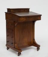 Davenport Bureau/skrivepult, nøddetræ, omkring 1800