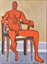 Jeff Ibbo, olie på lærred, figurkomposition