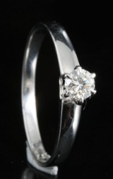18kt diamond solitaire ring approx. 0.21ct,