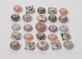25 charlotte Borgen charms /beads - lilla (25)