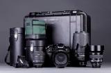Nikon D1 kamerahus, 4 optikker samt fotokasse (9)