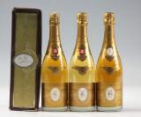 3 fl. diverse Louis Roederer Cristal Brut. (3)