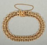 Armband X- länk 18k guld