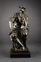 Michelangelo kopi efter. Skulptur af patineret bronze