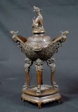 Rökelsekar i brons, Kina, 1800-tal