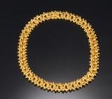 Evald Nielsen. Necklace, 14 kt gold