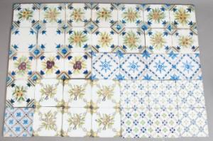 ware 3314052 sammlung holl ndischer fliesen 35 stck verschiedene motive ornamentfliesen um 1880. Black Bedroom Furniture Sets. Home Design Ideas