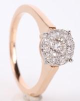 Brillantring fra Diamonds by Frisenholm, 14 kt rosa guld, ca. 0.50 ct.