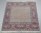 Persisk Moud tæppe, 193x193 cm.