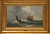 Holger Drachmann, marineparti, olie på plade