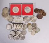 Samling mynt, delvis silver, Sverige (45)
