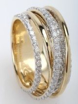 Diamond ring from Diamonds by Frisenholm Luxe, 14 kt  gold, approx. 1.27 ct. Modern design