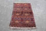 Teppich, Wolle auf Baumwolle, ca. 137 x 93 cm