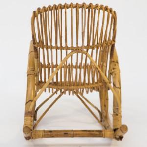 Schaukelstuhl stuhl 1950er jahre bambus und rattan for Schaukelstuhl bambus