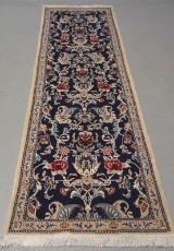 Persisk Nain løber. Uld med silke. 292 x 78 cm