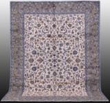 Carpet, pale Keshan, Persia, signed, 372 x 285