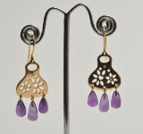 Ole Lynggaard - 'Blonde' ear pendants with amethysts and diamonds