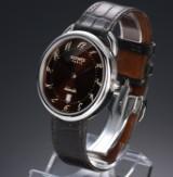 Hermés 'Arceau'. Automatic men's watch in steel with date, c. 2009