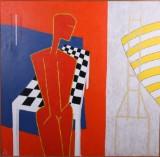 Ubekendt kunstner, figurkomposition, olie på lærred