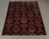 Moderner Teppich mit roten Floralmustern, 170 x 235 cm